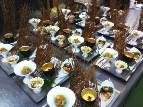 【秋のメニュー(The Appetizer of Japanese Full Course Dinner)】