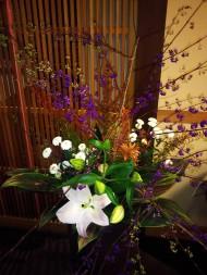 「フロント前のお花」(Callicarpa japonica etc.)