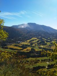「大涌谷遠景」(A Distant View of Sulphur Valley)