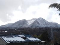 「昨夜の降雪」(We had snow last night in Hakone)