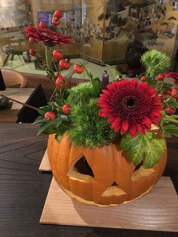 【かぼちゃを器にハロウィン】